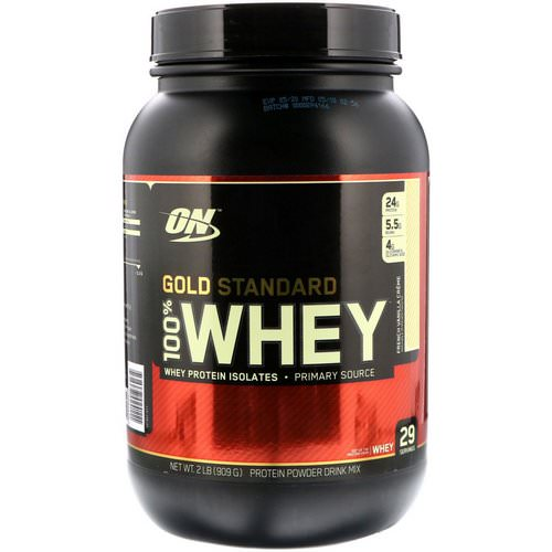 Optimum Nutrition, Gold Standard, 100% Whey, French Vanilla Creme, 2 lbs (909 g) Review