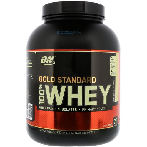Optimum Nutrition, Gold Standard, 100% Whey, French Vanilla Creme, 5 lbs (2.27 kg) Review