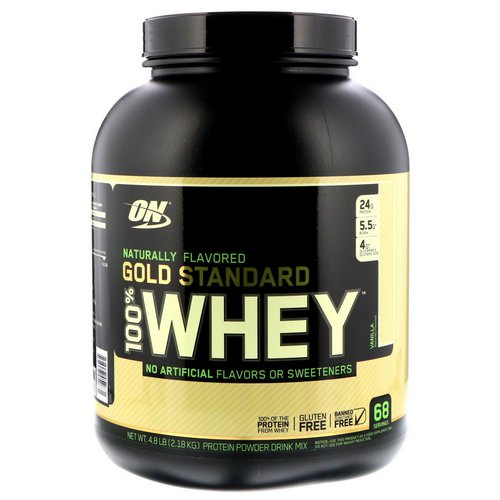 Optimum Nutrition, Gold Standard, 100% Whey, Naturally Flavored, Vanilla, 4.8 lbs (2.18 kg) Review