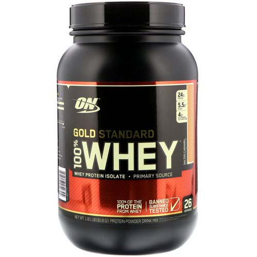 Optimum Nutrition, Gold Standard, 100% Whey, Salted Caramel, 1.81 lbs (819 g) Review