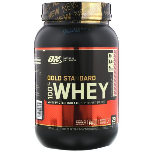 Optimum Nutrition, Gold Standard, 100% Whey, Strawberries & Cream, 1.98 lb (899 g) Review