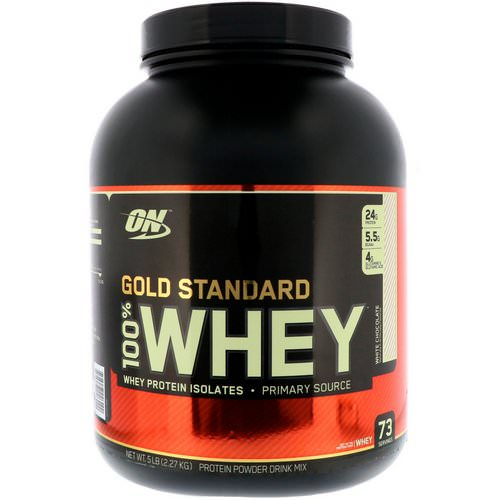 Optimum Nutrition, Gold Standard, 100% Whey, White Chocolate, 5 lbs (2.27 kg) Review