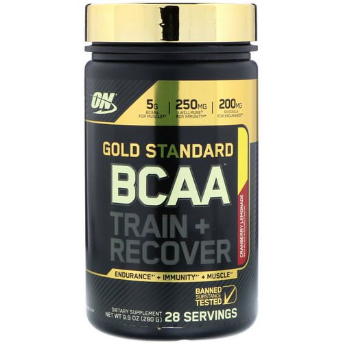 Optimum Nutrition, Gold Standard, BCAA Train + Recover, Cranberry Lemonade, 9.9 oz (280 g) Review