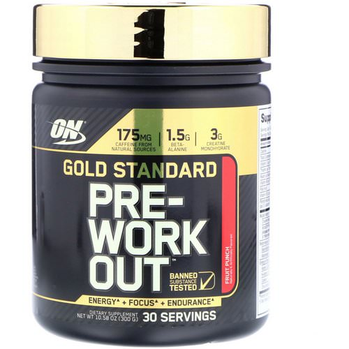 Optimum Nutrition, Gold Standard, Pre-Workout, Fruit Punch, 10.58 oz (300 g) Review
