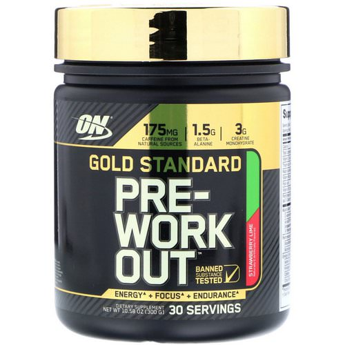 Optimum Nutrition, Gold Standard, Pre-Workout, Strawberry Lime, 10.58 oz (300 g) Review