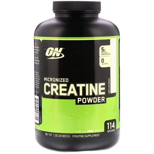 Optimum Nutrition, Micronized Creatine Powder, Unflavored, 1.32 lb (600 g) Review