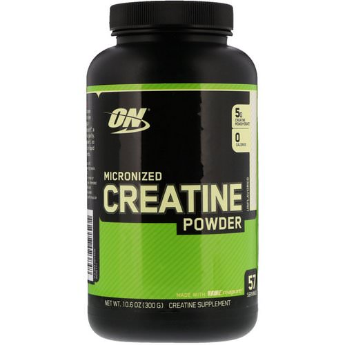 Optimum Nutrition, Micronized Creatine Powder, Unflavored, 10.6 oz (300 g) Review