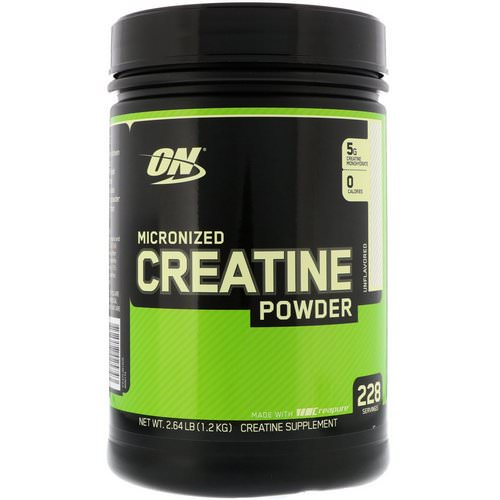 Optimum Nutrition, Micronized Creatine Powder, Unflavored, 2.64 lb (1.2 kg) Review
