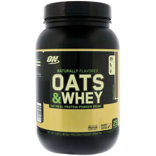 Optimum Nutrition, Oats & Whey, Oatmeal Protein Powder Drink, Milk Chocolate, 3 lbs (1.36 kg) Review