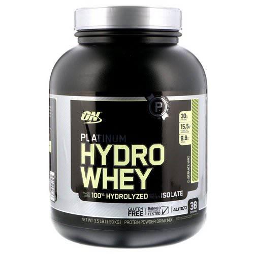 Optimum Nutrition, Platinum Hydro Whey, Chocolate Mint, 3.5 lbs (1.59 kg) Review