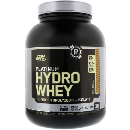 Optimum Nutrition, Platinum Hydro Whey, Chocolate Peanut Butter, 3.5 lbs (1.59 kg) Review
