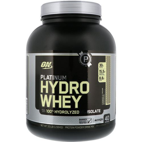 Optimum Nutrition, Platinum Hydro Whey, Cookies & Cream Overdrive, 3.5 lbs (1.59 kg) Review