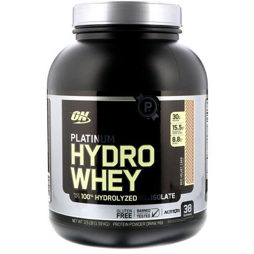 Optimum Nutrition, Platinum Hydro Whey, Red Velvet Cake, 3.5 lbs (1.59 kg) Review