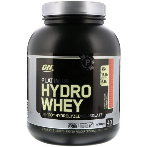 Optimum Nutrition, Platinum Hydro Whey, Supercharged Strawberry, 3.5 lbs (1,59 kg) Review