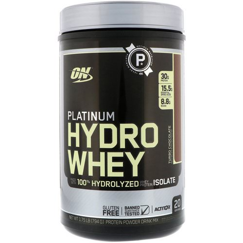 Optimum Nutrition, Platinum Hydro Whey, Turbo Chocolate, 1.75 lbs (795 g) Review