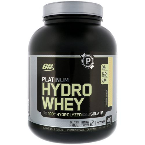Optimum Nutrition, Platinum Hydro Whey, Velocity Vanilla, 3.5 lbs (1.59 kg) Review