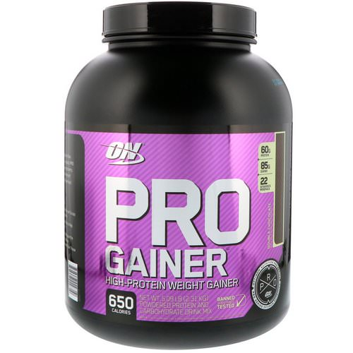 Optimum Nutrition, Pro Gainer, High-Protein Weight Gainer, Double Chocolate, 5.09 lbs (2.31 kg) Review