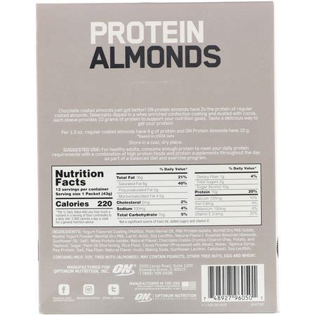 Optimum Nutrition, Protein Snacks, Almonds