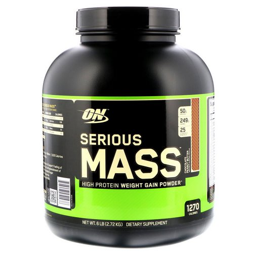 Optimum Nutrition, Serious Mass, High Protein Weight Gain Powder, Chocolate Peanut Butter, 6 lbs (2.72 kg) Review