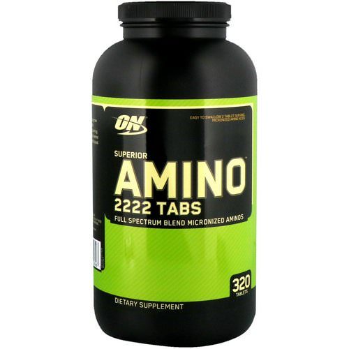 Optimum Nutrition, Superior Amino 2222 Tabs, 320 Tablets Review