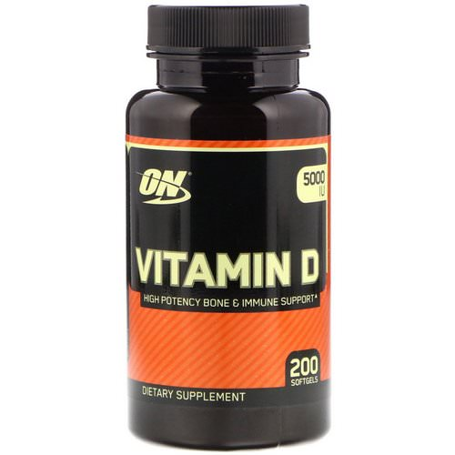 Optimum Nutrition, Vitamin D, 5000 IU, 200 Softgels Review
