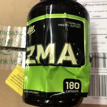 Sports Nutrition Post-Workout Recovery ZMA Optimum Nutrition
