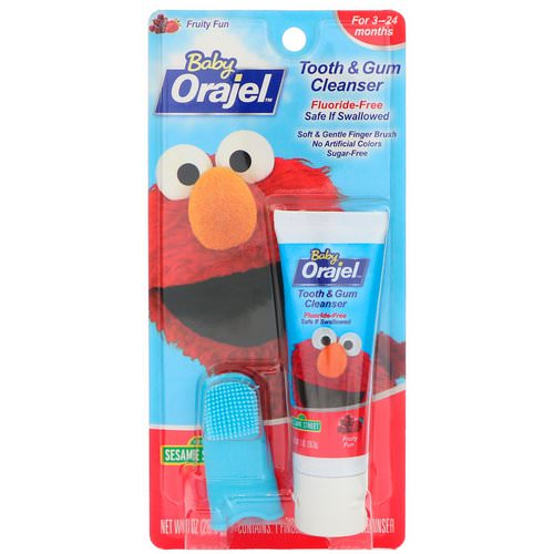 Orajel, Elmo Tooth & Gum Cleanser, Fruity Fun, 3-24 Months, 1 oz (28.3 g) Review