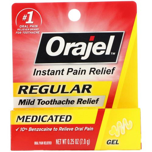 Orajel, Regular Mild Toothache Relief, Medicated, 0.25 oz (7.0 g) Review