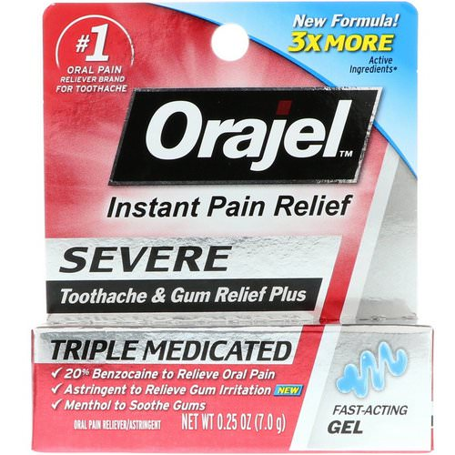 Orajel, Severe Toothache and Gum Relief Plus, Triple Medicated Gel, 0.25 oz (7.0 g) Review