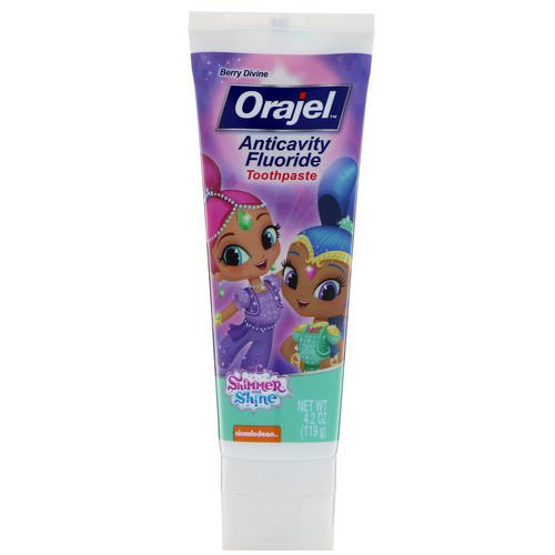 Orajel, Shimmer & Shine Anticavity Fluoride Toothpaste, Berry Divine, 4.2 oz (119 g) Review