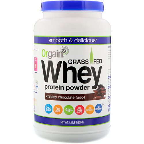 Orgain, Grass-Fed Whey Protein Powder, Creamy Chocolate Fudge, 1.82 lbs (828 g) Review