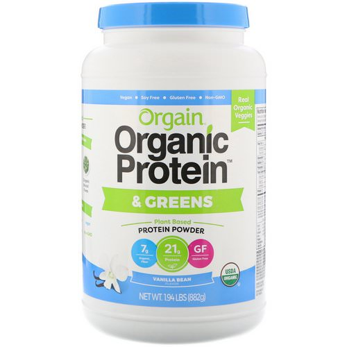 Orgain, Organic Protein & Greens Protein Powder, Plant Based, Vanilla Bean, 1.94 lbs (882 g) Review