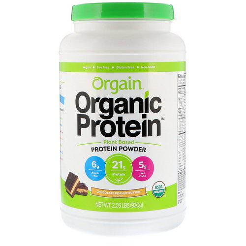 Orgain, Organic Protein Powder, Plant Based, Chocolate Peanut Butter, 2.03 lb (920 g) Review