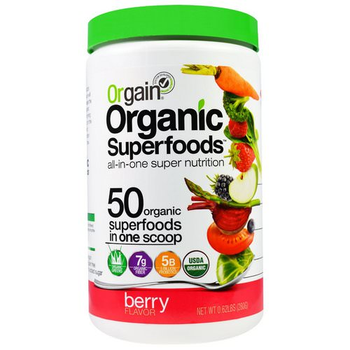 Orgain, Organic Superfoods, All-In-One Super Nutrition, Berry Flavor, 0.62 lbs (280 g) Review