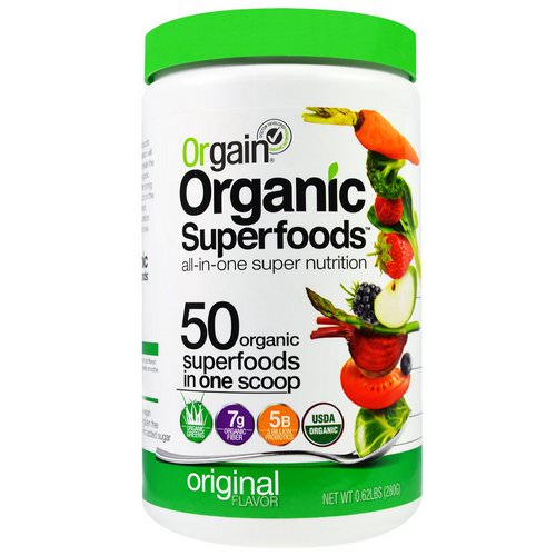 Orgain, Organic Superfoods, All-In-One Super Nutrition, Original Flavor, 0.62 lbs (280 g) Review
