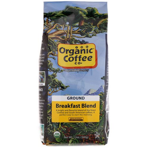 Organic Coffee Co, Breakfast Blend, Ground Coffee, 12 oz (340 g) Review