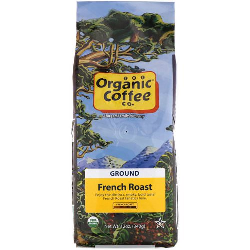 Organic Coffee Co, French Roast, Ground Coffee, 12 oz (340 g) Review