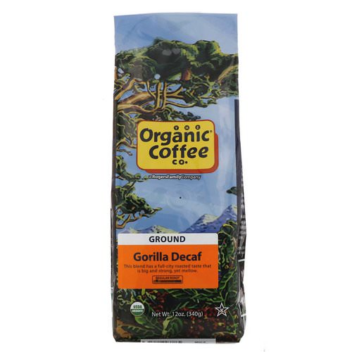 Organic Coffee Co, Gorilla Decaf, Ground, 12 oz (340 g) Review