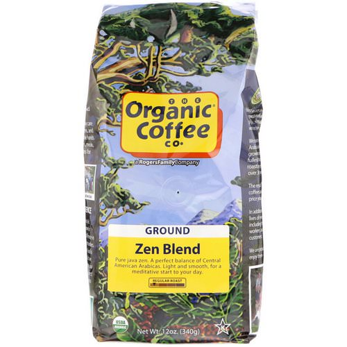 Organic Coffee Co, Zen Blend, Ground, 12 oz (340 g) Review