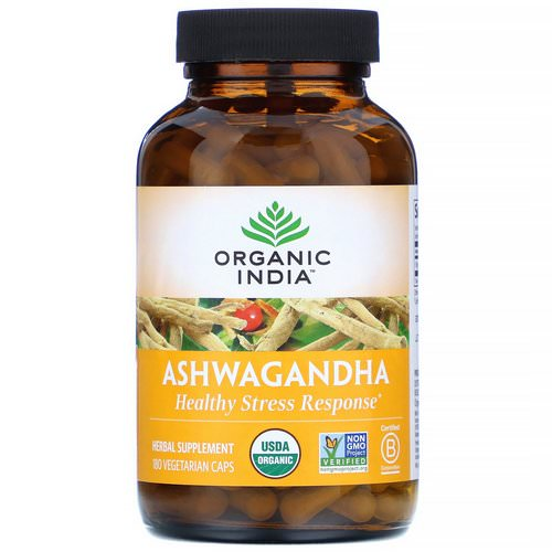 Organic India, Ashwagandha, 180 Vegetarian Caps Review
