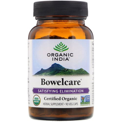 Organic India, Bowelcare, Satisfying Elimination, 90 Veg Caps Review