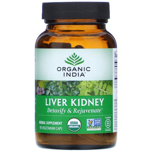 Organic India, Liver Kidney, 90 Vegetarian Caps Review