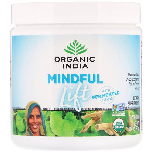 Organic India, Mindful Lift, Fermented Adaptogens, 3.17 oz (90 g) Review