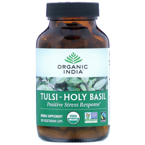 Organic India, Tulsi-Holy Basil, 180 Vegetarian Caps Review