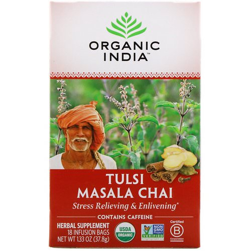 Organic India, Tulsi Tea, Masala Chai, 18 Infusion Bags, 1.33 oz (37.8 g) Review