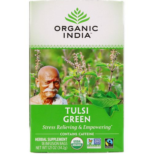 Organic India, Tulsi Tea, Green, 18 Infusion Bags, 1.21 oz (34.2 g) Review