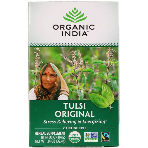 Organic India, Tulsi Tea, Original, Caffeine-Free, 18 Infusion Bags, 1.14 oz (32.4 g) Review