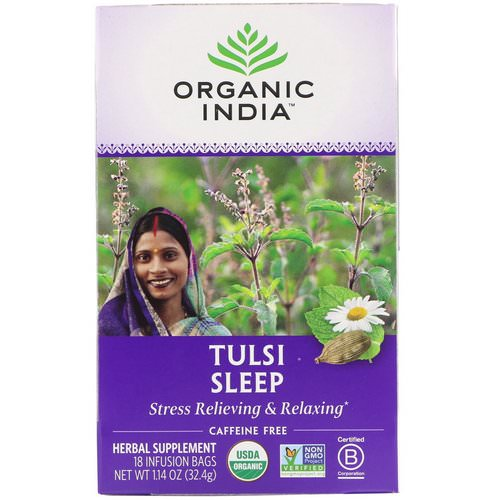 Organic India, Tulsi Tea, Sleep, Caffeine Free, 18 Infusion Bags, 1.14 oz (32.4 g) Review