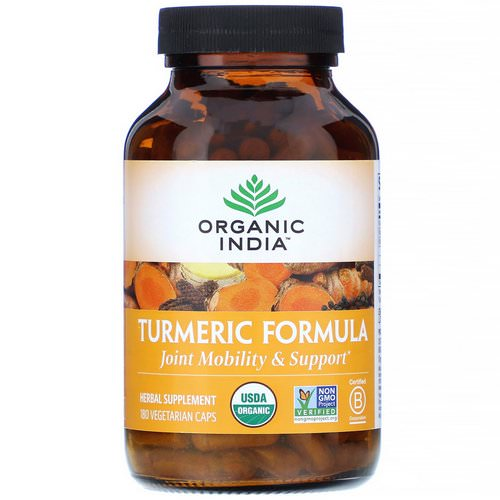 Organic India, Turmeric Formula, Joint Mobility & Support, 180 Vegetarian Caps Review