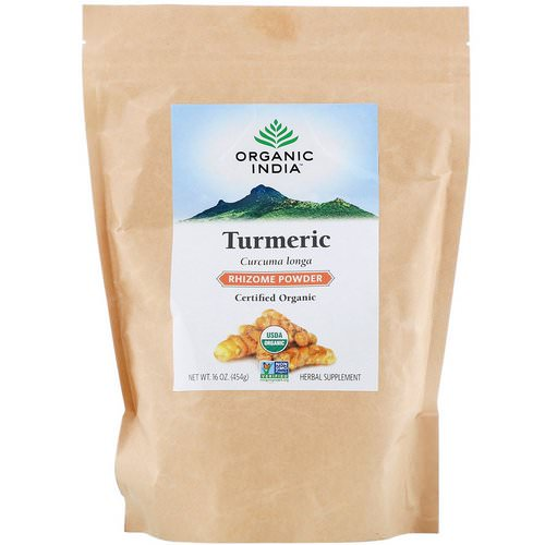 Organic India, Turmeric Rhizome Powder, 16 oz (454 g) Review